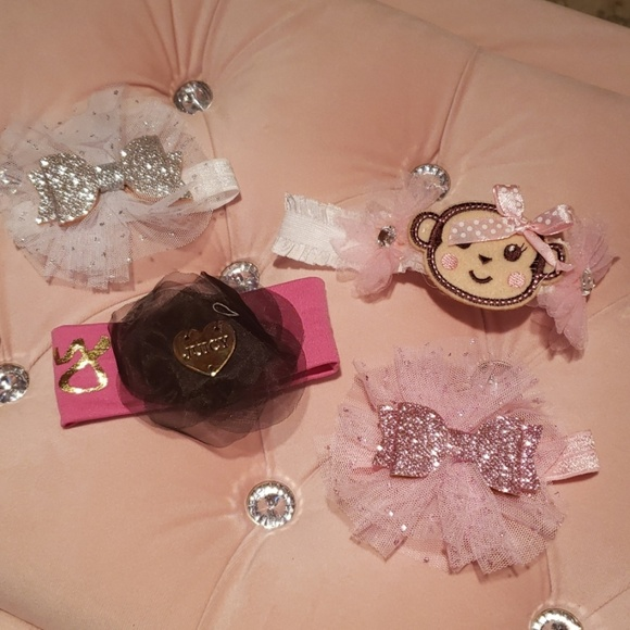 Juicy Couture Other - 4 headbands Premie/newborn